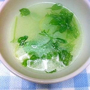 余った七草で… 春の七草中華スープ