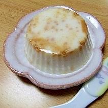 簡単和風プリン☆牛乳きな粉プリン