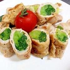 オーブントースターで簡単 野菜の肉巻き