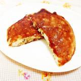緑茶&ミックスナッツ入り♪バナナの御飯パンケーキ