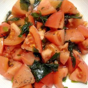 ♡夏に食べたい♡トマトとワカメのさっぱり酢の物♡