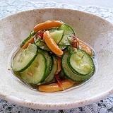 柿の種でピリ辛!酢の物