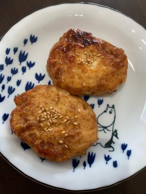 鶏ひき肉の豆腐ハンバーグ!つくね風?