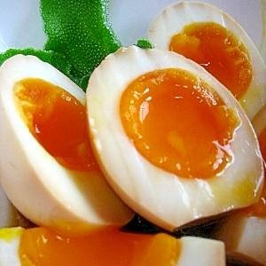 トロットロの煮卵。超簡単。漬け込むだけ。