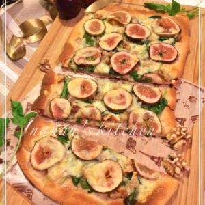ピザのヘルシー版♪いちじくとくるみの「ピンサ」