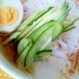 ✿きゅうりとゆで卵の冷麺❤