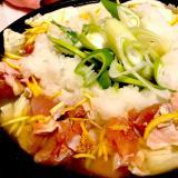 白ネギたっぷり鶏肉の柚子みぞれ鍋