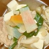 うどんスープで簡単♪すまし豚汁