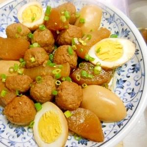 鶏団子と大根の煮物