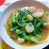 ホタテとチンゲン菜の中華炒め