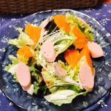 デコポンと魚ニソ、新たまねぎのサラダ