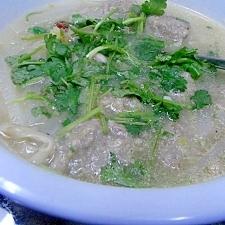 牛肉の肉団子と大根の中華風スープ