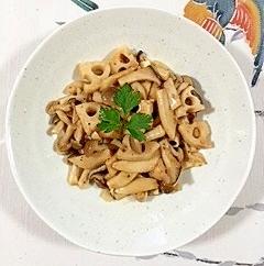 レンコンと茸の炒め物