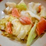 焼き鮭とキャベツ炒め