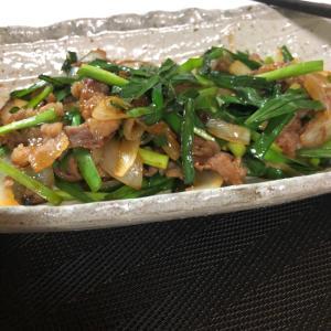 簡単 豚肉とニラのサッと炒めたん