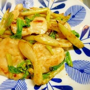 セロリと鶏むね肉の塩麹炒め