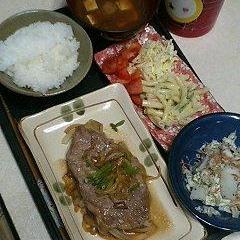 甘~い玉ねぎが美味しい豚肉生姜焼き