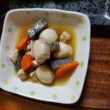 こんにゃくと小芋と豚肉の煮物