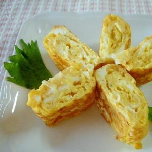 粉チーズで!カンタン卵焼き
