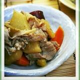 豚肉と根菜の煮物