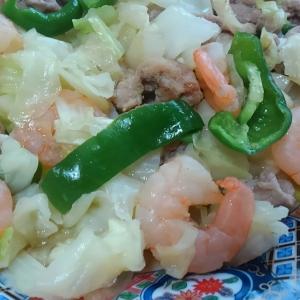 豚肉と海老の野菜炒め*