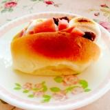 ジュワッと♪マシュマロとハムとレーズンのロールパン