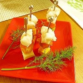 簡単☆海老とチーズのピンチョス♪