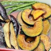 カリカリジュワ~♪野菜の揚げびたし