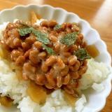 福神漬けの納豆ご飯