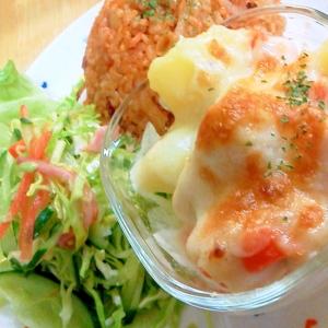 ほくほくジューシー♪チキンと野菜のミルクチーズ焼☆