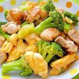 ブロッコリーと鶏肉たまごのオイスター炒め