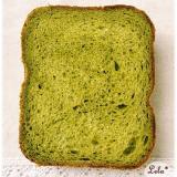 濃い抹茶ミルク食パン@ホームベーカリー