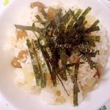 佃煮と沢庵の混ぜご飯~☆