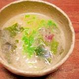 お刺身のつま☆レンジ味噌汁