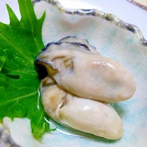 =牡蠣のオリーブオイル漬け=