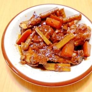 スペアリブと根菜のこってり味噌炊き