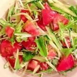 爽やか!トマトとキュウリと水菜のマヨサラダ