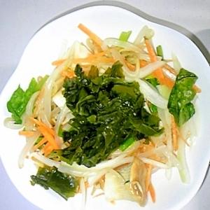 レンジで簡単☆もやしの和風グリーンサラダ