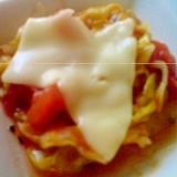 キャベツとトマトのチーズ焼き