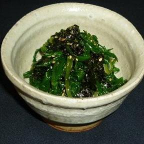 韓国海苔とニラの簡単ナムル♪