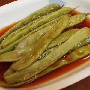 めんつゆであっという間のモロッコ豆煮