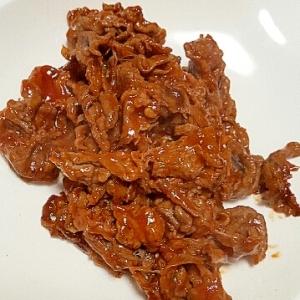 ささっと5分で一品追加☆牛肉のケチャップ炒め