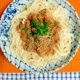 鯖味噌缶のおろし素麺♪