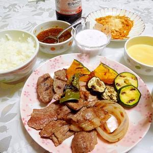 焼き肉とグリル野菜