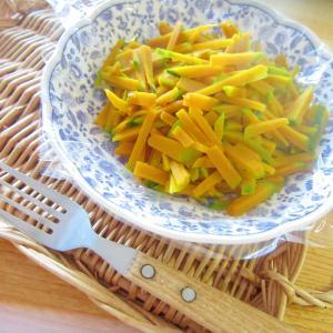 カボチャの味醂とホットケーキシロップサラダグリル