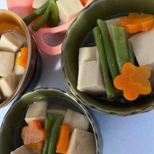 お年寄りから子供まで大好き 人参インゲン高野豆腐
