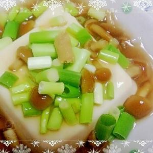 簡単★豆腐のなめこあんかけ★ヘルシー