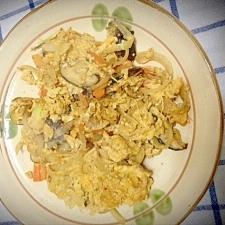 中華風~野菜炒めの卵とじ