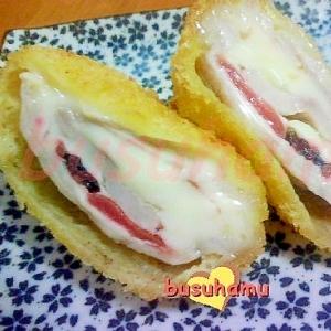 お弁当に☆豚肉の梅チーズ巻き☆