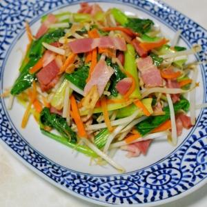 ベーコンと野菜の塩炒め